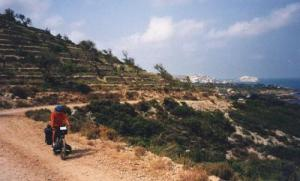 Eric riding south of Peñíscola on the Spanish east coast