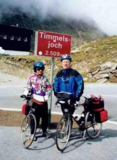 Hubert and Uschi Becker at Timmelsjoch/Rombo