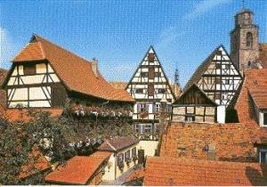 Traditional Half-timbered Houses in Dinkelsbuhl