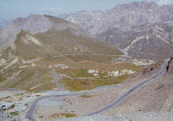 Hairpins leading to the Galibier