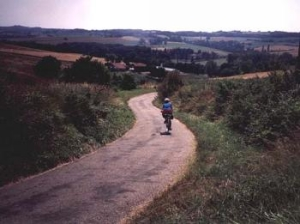 Going down hills in Gascony was much easier than going up