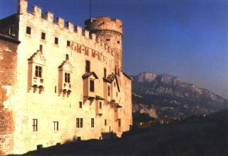 The back side of Castello del Buonconsiglio