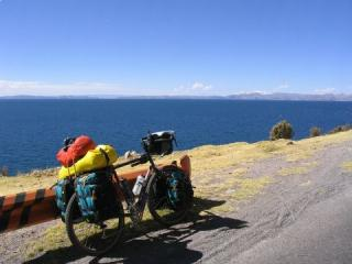 The steed on the shores of Lake Titicaca