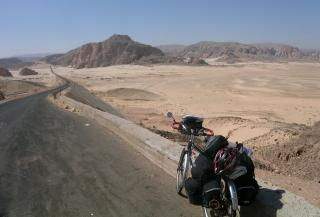 the Sinai desert, Egypt