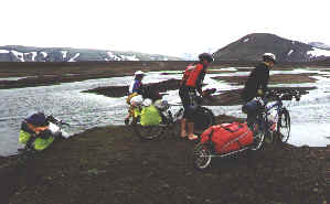 River crossing in Iceland