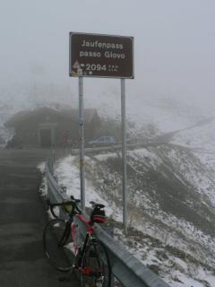 The top of the passo Giovo snow storm