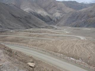 The last few km of the Kirgizjangal Pass, Xinjiang, China.