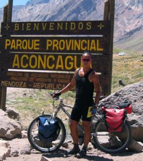 Entrance from the main road to Aconcagua, the highest mountain in the Americas.