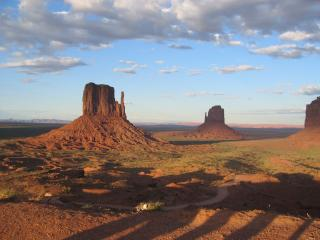 On sideways to Monument Valley