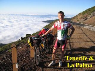 Bicycling above the clouds on Teide (Tenerife)