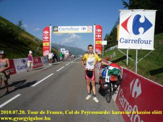 Col de Peyresourde before the Tour de France caravane