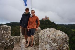 Cycled to the top of a fortress in Sintra, Portugal.