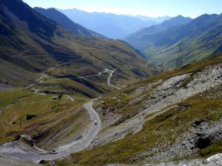 Looking from Col du Tourmalet westward