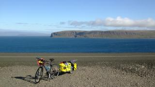 One of our bikes located somewhere along the the Húnaflói on our way to Hólmavík.