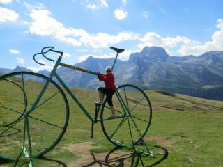 The famous giant bike sculptures, Col d'Aubisque