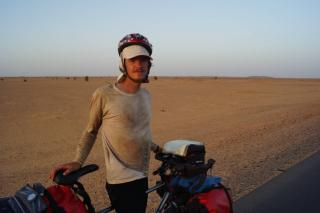 Me in Sudan crossing the sahara and a little dirty.