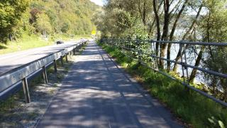 typical bicycle trail at the river Danube