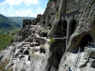 Vardzia. Church cut into the stone.